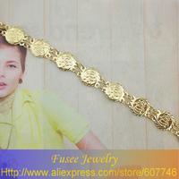 ISZ00438-1 18K gold plated Filled Allah Muslim Bracelet 2pcs/lot