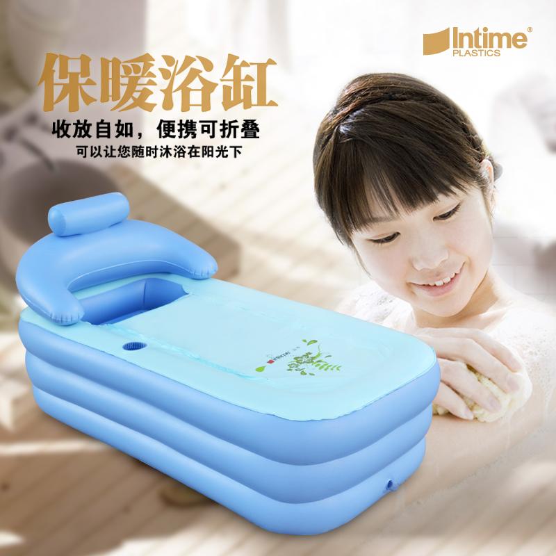 Yingtai inflatable bathtub thickening tub adult bath bucket household folding thermal electric pump(China (Mainland))