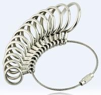 Free Shipping Finger Ring Sizer Gauge Jeweler Steel Sizing Tool 1-13