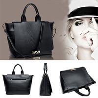 HOT SALE!! Woman's bag New Fashion Snakeskin Stria Shoulder Bag Women Messenger Bags Women Designer High Quality Handbags 2014