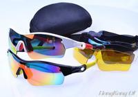 2014 Hot Brand Sunglasses Radar Path Polarized Cycling Bicycle Bike Outdoor Sports Eyewear Sunglasses 5Pcs lens Free Shipping
