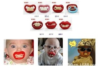 2pcs/lot Funny Silicone Pacifiers Baby Teether Pacifier Pacy Orthodontic Nipples Novelty birthday gifts Baby care baby products