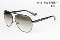 3011 Free Shipping Supper Star Steel Frame Men Sunglasses UV Protection Optical Aviator Male Sun Glasses High Quality Low Price