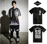 HEY GUYS   hip hop streetwear fashion clothing lovers short-sleeve PU leather shirts men cardigan shirrt