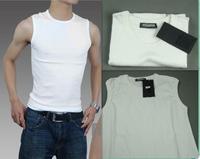 2014 Super star  men's handsome sleeveless shirt t-shirt tight stretch cotton men casual vest t shirt sleeveless free shipping