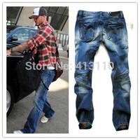W29-W40#L34#JAD3003,New 2014 Italian Fashion Famous Brand Men's Jeans,Plus Size Designer Straight Denim Slim Ripped Jeans Men