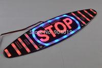 """Universal 12V LED High Mount Brake Flash Light """"STOP"""" Flash Light For All Cars"""