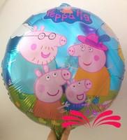 2014 New arrive 2014 New arrive 50pcs/lots wholesales Peppa Pig foil balloon Birthday party decoration cartoon balloons Hot sale