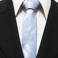 New Arrival Mens Fashion Classic Check Neckties For Man Sky Blue Skinny Original Neck Ties For Shirt Gravatas 5CM F5-M-3