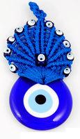 Macrame turkey evil eye Amulet  hanging ornament nazar decoration italy murano glass