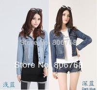 s-xxxxxl 2014 new jackets women spring slim short jackets women's denim jacket for coat outerwear jeans