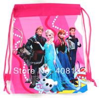 48 PCS Girls Love Frozen Girls Printing Drawstring Backpack,Child School Bags, Hiking Shoulder Bags