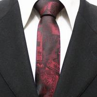 New Arrival Mens Popular Novelty Neckties For Man Red Slim Original Casual Party Cartoon Neck Ties Gravatas 5CM F5-M-6