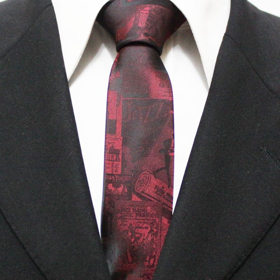 New Arrival Mens Popular Novelty Neckties For Man Red Slim Original Casual Party Cartoon Neck Ties Gravatas 5CM F5-M-6(China (Mainland))