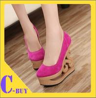 Free shipping New Korean Styles Ladies High Heel Platform Wedges Shoes Wedge Heel Shoes (Size 35-39)