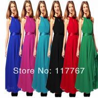 2014 New Summer Women Maxi Chiffon Long dress Sun Beach Ball Gown Evening Party Dress Free Shipping 654735