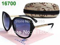 wholesale free shipping 2014 new Hot sales Designer Sports fashion super retro sunglasses gold  women