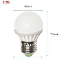 2014 new high brightness LED globe lamp 3.5w E27 E26 B22 base ceramic heatsink free shipping 50pcs/lot
