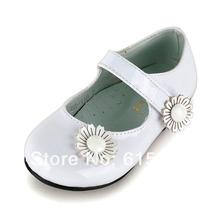 New Fashion Baby Girl Shoes Elegant White Ruffle Flower Print Round Toe Kids Sneakers(China (Mainland))