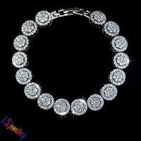 Luxious Wedding Jewelry Hand-set Micro Inlay Craft AAA+ Swiss CZ Diamond Bijouterie Charm Studded Bracelets for women