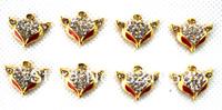 New 100 pcs cute f ox diamond Charms Earrings Pendants DIY Jewelry Making Free shipping