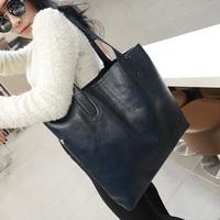 2014 shoulder bag fashion brief women's bag black big bags picture package women's handbag