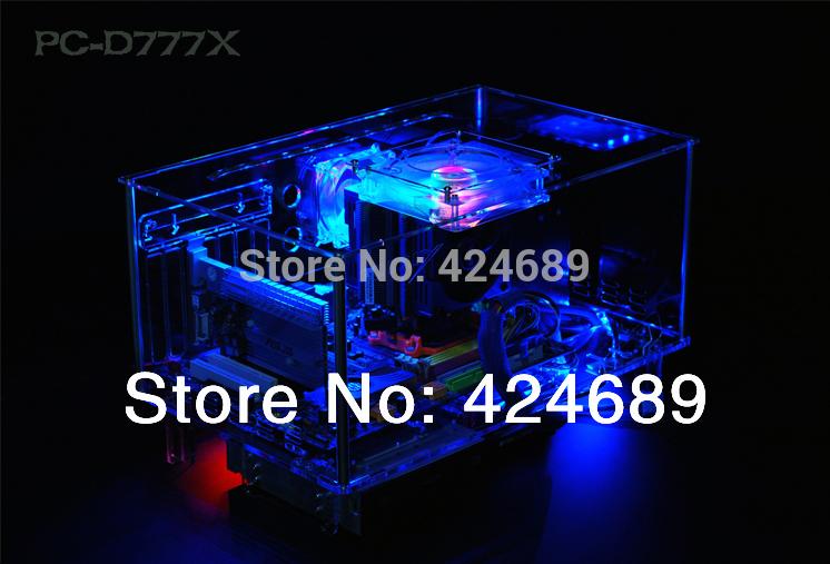 QDIY PC-D777XL E-ATX Personalized Acrylic Transparent Computer Desktop Game Computer Case(China (Mainland))