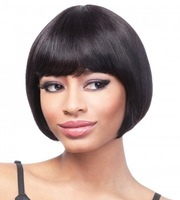 100% H HAIR  wig style natural black 1b color --- CLOVER