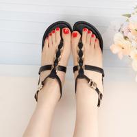 Vivi fashion flats flip-flop fashion punk Sandals rivet flat sandals young girl shoes