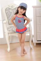 Promotion 5pcs/lot Free Shipping 2014 Beach Navy Strips Lace Bikini Hammock Children Swimwear Baby Girls Swimsuit