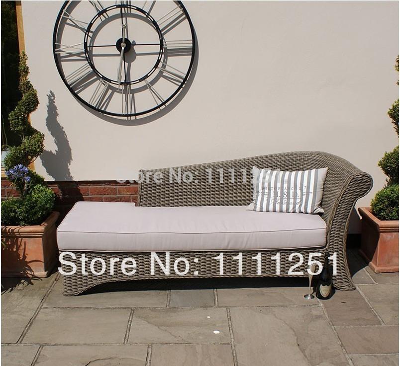 Online get cheap chaise longue rattan for Chaise longue rattan sintetico