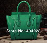 3308 green purse 2014 new smile face handbag original leather purse wholesale and retail