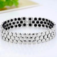 Germanium 316L Stainless Steel Titanium Bracelets&Bangle For Women And Men Bracelet Jewelry