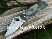 2014 Spyderco  C81 By High Workmanship Folding knife Spyderco Tenacious Spyderco Titanium Spyderco Paramilitary HK Free Shipping