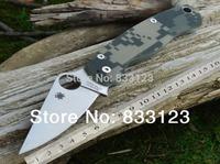 2014 Spyderco  C81 By High Workmanship Folding knife Spyderco Tenacious Spyderco Titanium Spyderco Paramilitary HK Free Shipping