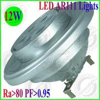4pcs/lot 12W LED AR111 Lights G53 Base type DC12V/AC85-265V LED Spot Lights 3 Years Warranty Supermarket ,Warehouse Indoor Lamp