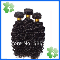 Wholesale no tangle no shedding cheap unprocessed brazilian deep curly virgin remy human hair weave 3 pcs lot free shipping