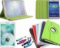 """360 degreen sewival Leather PU Case Cover + Film & Stylus For Samsung Galaxy Tab 3 8"""" 8.0 T310 T311 T315"""