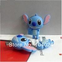 Free Ship Wholesale 10pcs lot 3D lovely Stitch pink ear USB Flash drive 2.0 U disk pen stick memory