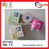 100 pcs/lot 5cm x 5m kinesio cotton athlete knee medical muscle tape