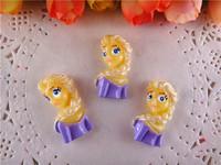 2014 new kawaii frozen princess elsa resins flatback for hair bows hairbows flat back resins 10pcs/lot  WQ14041102