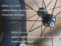 Cheapest pirce!!!88mm clincher wheels 23mm width&Powerway R36 hub+aero spoke