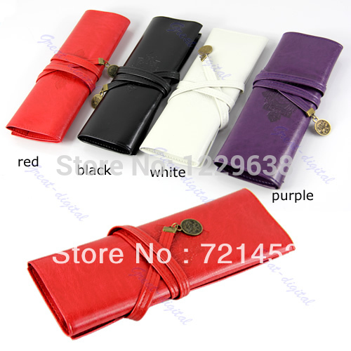 """S105""""Twilight New Moon Leather Make up Cosmetic Pen Pencil Case Pouch Purse Bag/Free Shipping(China (Mainland))"""