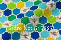 50cm*110cm Japanese KOKKA  Linen Fabric Echino By Etsuko furuya Honeycomb