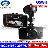 New Car Dash Cam Audio Video Recorder Novatek 96650 1920x1080P Full HD Built WDR+ IR night Vision+170 Degree Angle Lens G5WH DVR