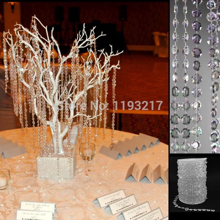 30 Feet Garland Diamond Strand Hanging Acrylic Crystal Bead Curtain ...