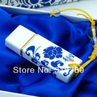 New 10 Pcs 16GB USB 2.0 Flash Memory Stick Pen Drive Chinese Style Ceramic USB Flash Drive Gift