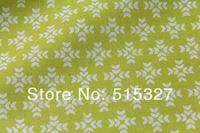"50cm*110cm Japanese KOKKA DIY Pachwork Fabric  Linen Fabric  ""GARDEN"" Snowflake    Yellowgreen"