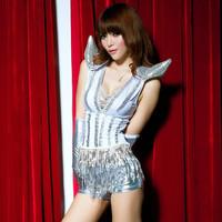 Fashion female singer sexy tassel paillette set dance jazz dance ds costume