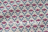 "50cm*110cm Japanese KOKKA DIY Patchwork Fabric Quilting Cloth Linen Fabric  ""GARDEN""  Leaf  DarkRed"